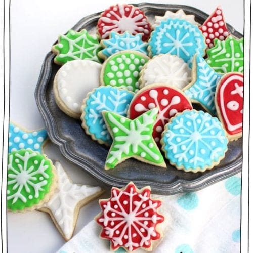 Christmas Cookie Icing.Perfect Vegan Sugar Cookies