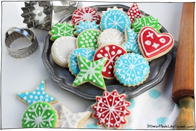 perfect vegan sugar cookies easy cut out cookies that are the best for any - How To Decorate Christmas Cookies With Royal Icing