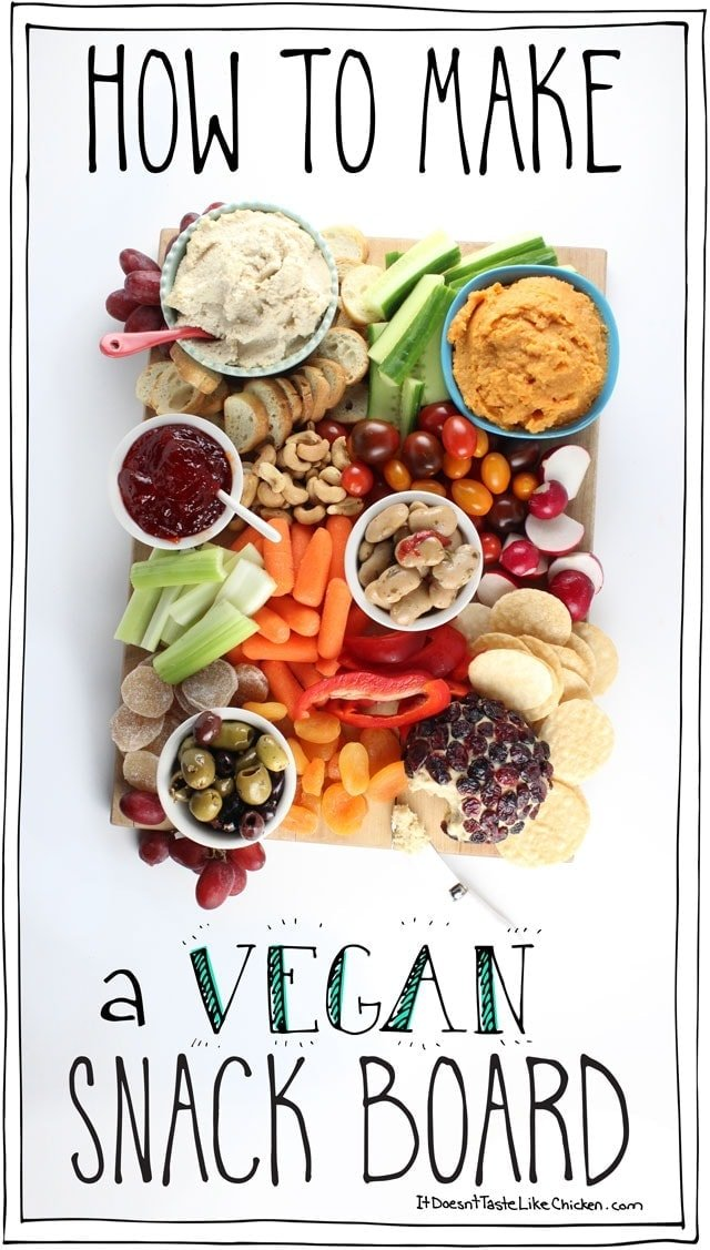Christmas Cheese Board Ideas.How To Make A Vegan Snack Board