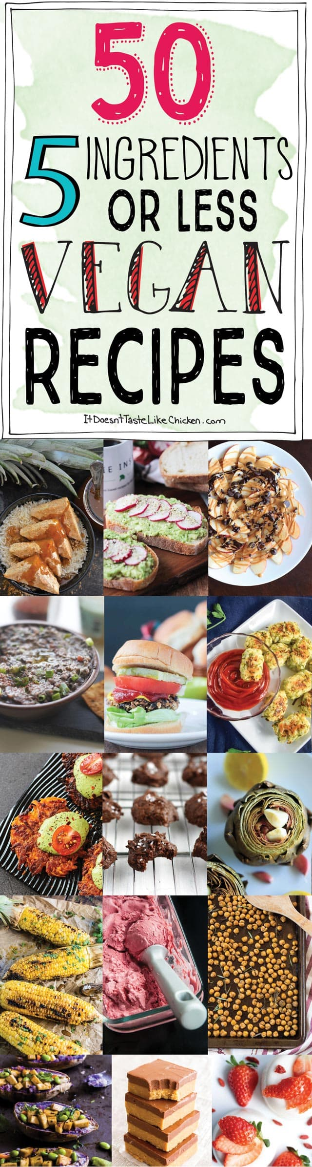 50 5 ingredients or less vegan recipes it doesnt taste like chicken 50 5 ingredients or less vegan recipes quick and easy breakfast snacks forumfinder Images
