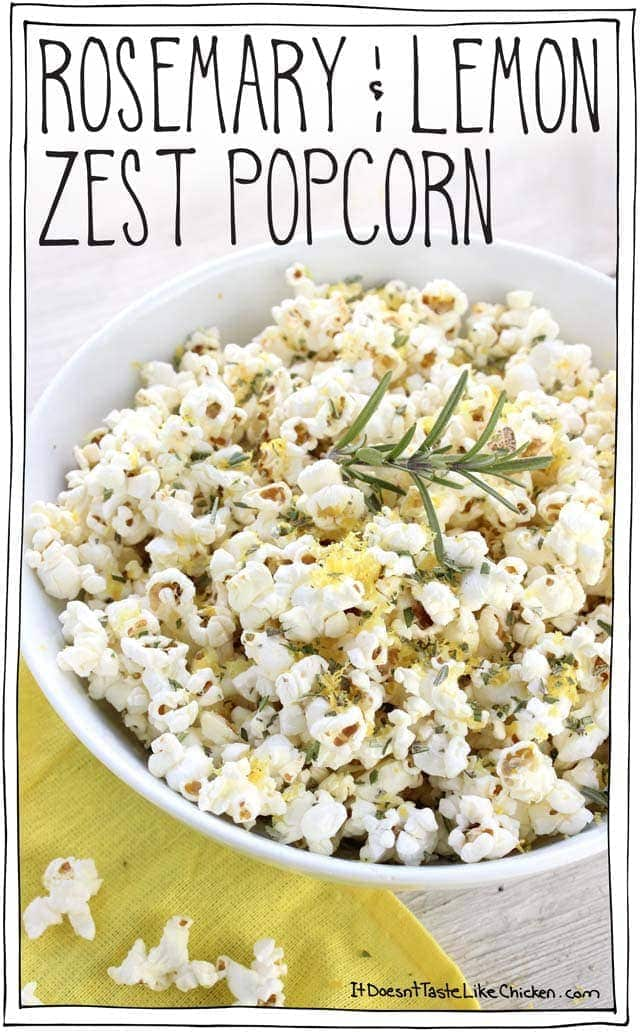 Rosemary & Lemon Zest Popcorn