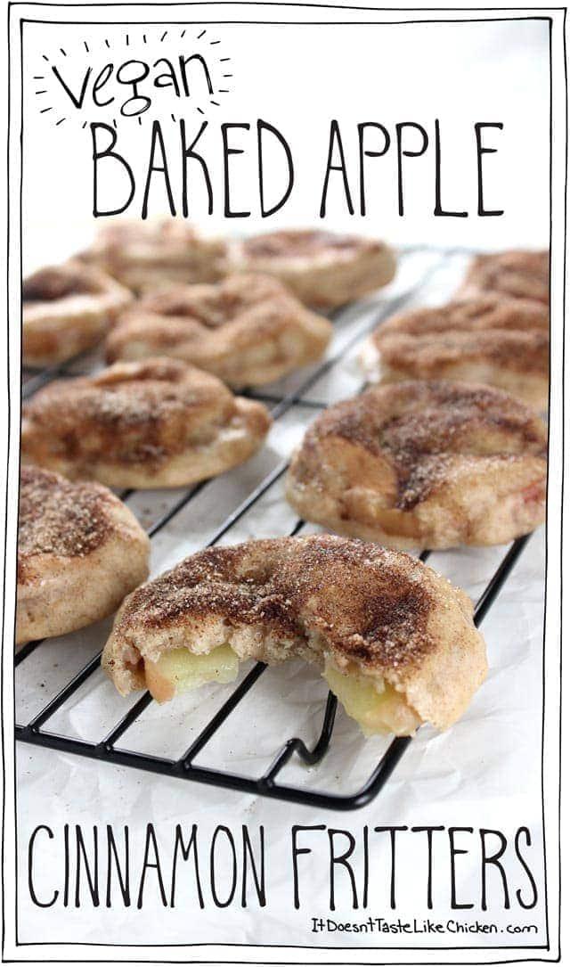 Vegan Baked Apple Cinnamon Fritters It Doesn T Taste Like Chicken