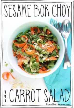 Sesame Bok Choy & Carrot Salad