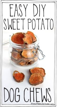 Easy DIY Sweet Potato Dog Chews