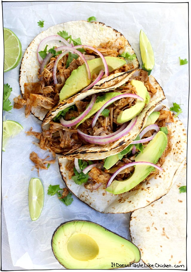 25 Game-Changing Vegan Taco Recipes. Bring on Taco Tuesday! Everything from quick and easy, crispy and chewy, breakfast or dinner, all dairy-free, egg-free, and vegetarian. #itdoesnttastelikechicken
