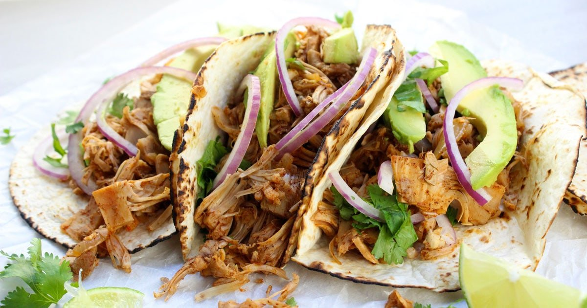 Easy Vegan Jackfruit Tacos It Doesn T Taste Like Chicken