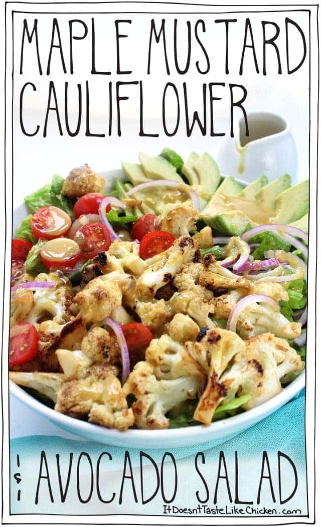 Maple Mustard Cauliflower & Avocado Salad
