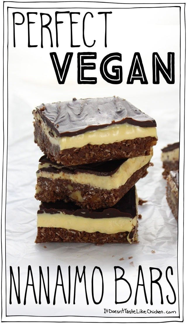Perfect Vegan Nanaimo Bars