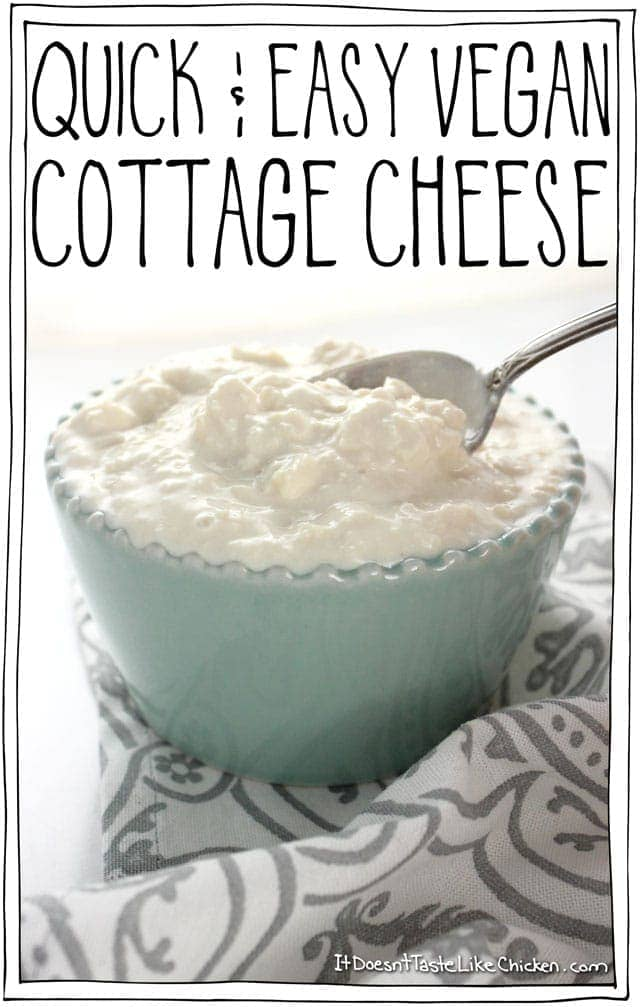 Quick & Easy Vegan Cottage Cheese
