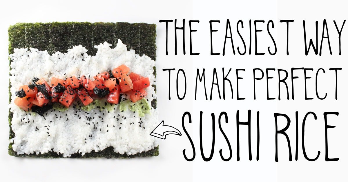 Making sushi at home is quick and easy when you have this technique for making perfect sushi rice, every time! #itdoesnttastelikechicken