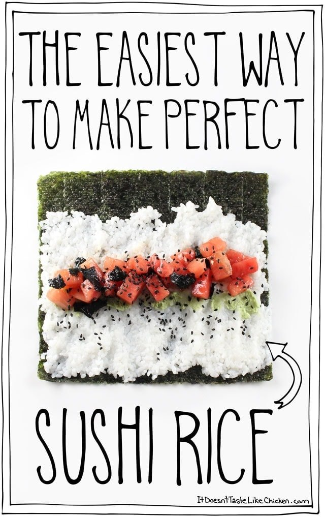 How to make sushi rice with seasoning