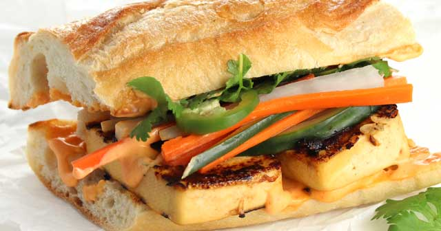 Grilled Tofu Banh Mi • It Doesn't Taste Like Chicken