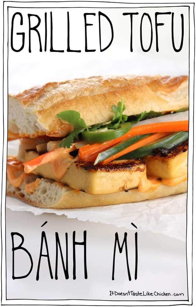 Grilled Tofu Banh Mi