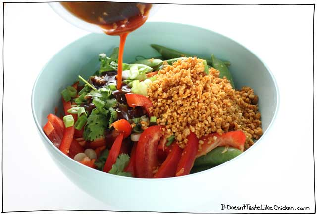 Cold Noodle Bowl with Sriracha Peanut Crumble - All Dishes ...