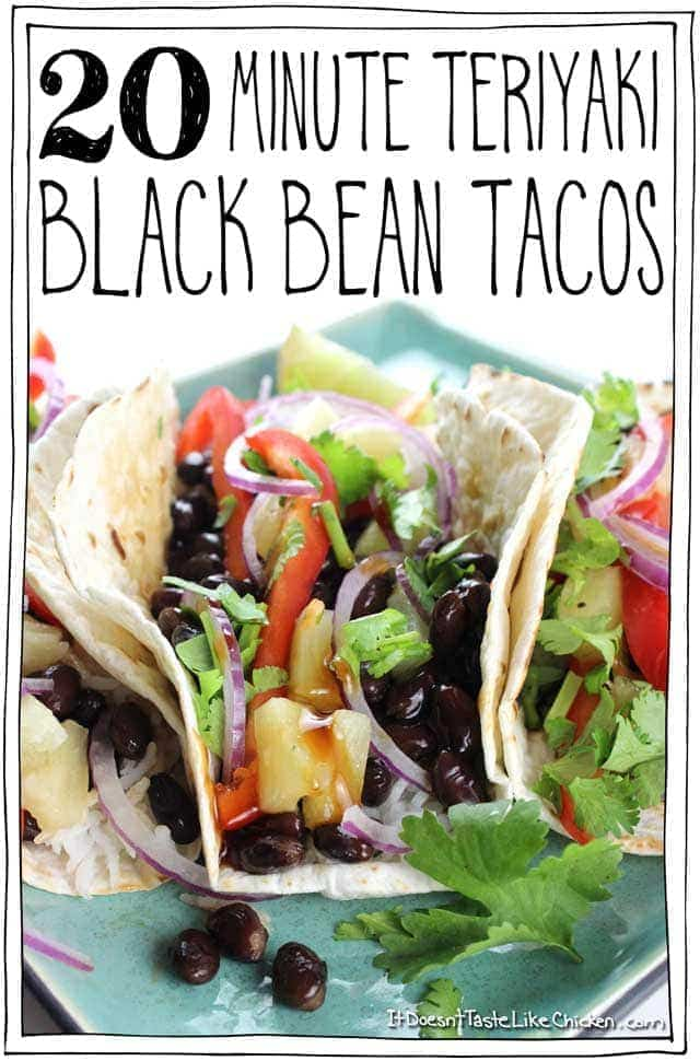 20 Minute Teriyaki Black Bean Tacos
