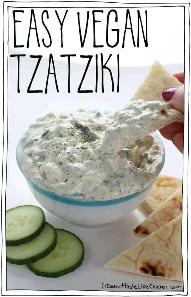 Easy Vegan Tzatziki It Doesn T Taste Like Chicken