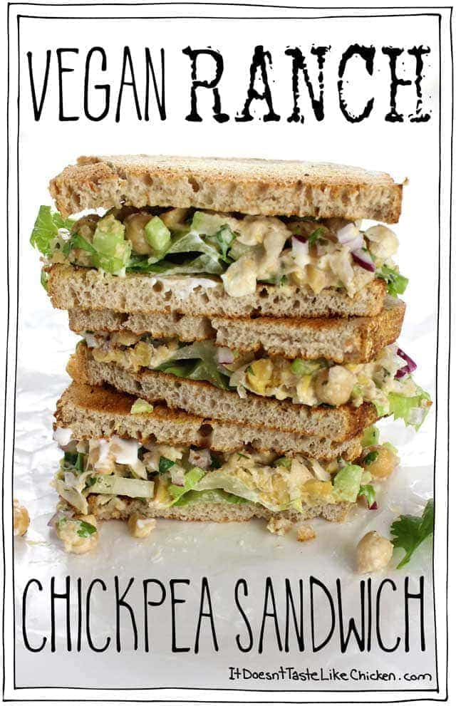 Vegan Ranch Chickpea Sandwich