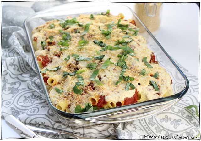 how to make vegetarian baked pasta