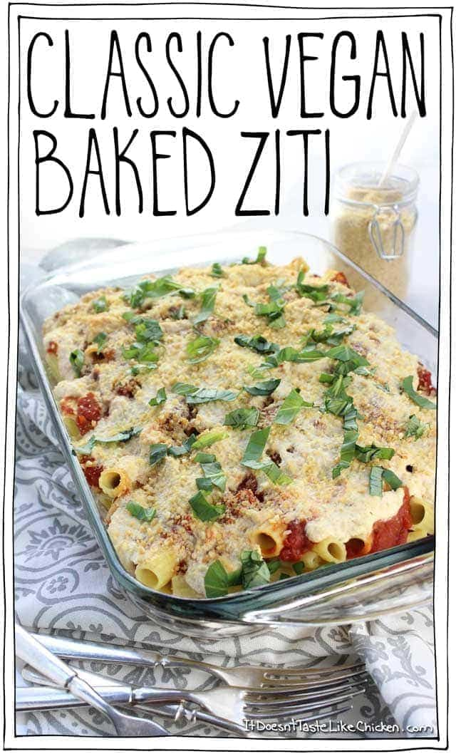 Classic Vegan Baked Ziti