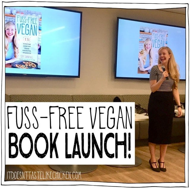 Fuss-Free Vegan Book Launch!