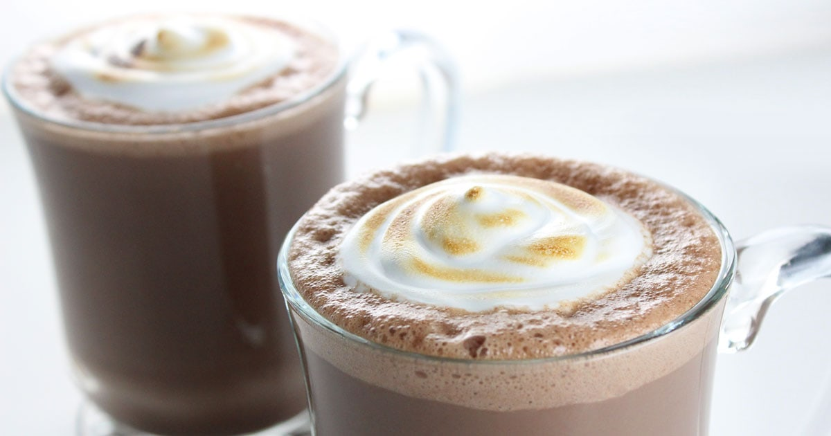 Easy Vegan Hot Chocolate (with toasted marshmallow fluff ...