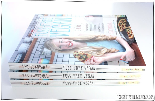 Fuss-Free Vegan cookbook giveaway! Win a copy of Fuss-Free Vegan which I will sign and personally inscribe with whatever message you like!  Day 8 of 12 days of giveaways 2017. #itdoesnttastelikechicken