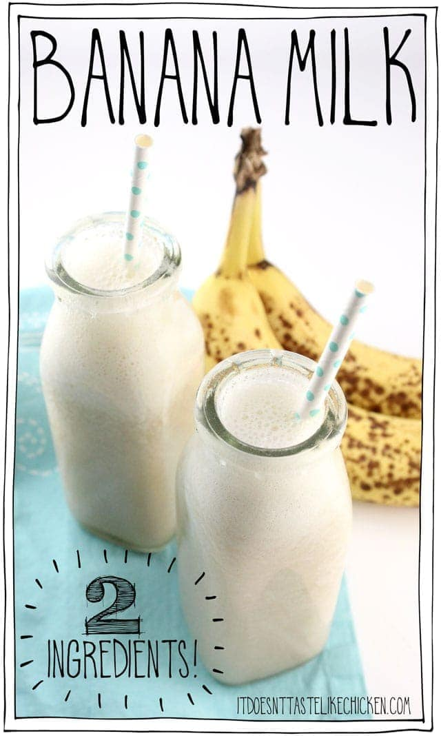 Banana Milk – 2 Ingredients!