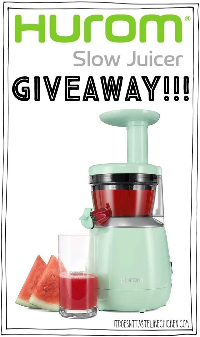 Hurom Slow Juicer Almond Milk Recipe : HUROM Slow Juicer Giveaway! It Doesn t Taste Like Chicken