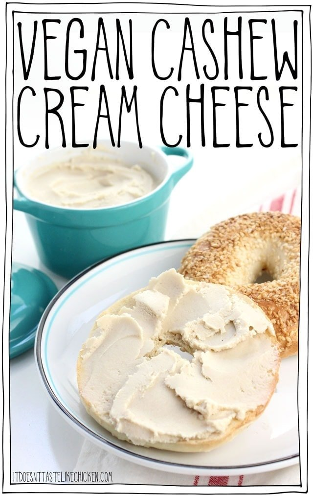 Vegan Cashew Cream Cheese – 3 ways