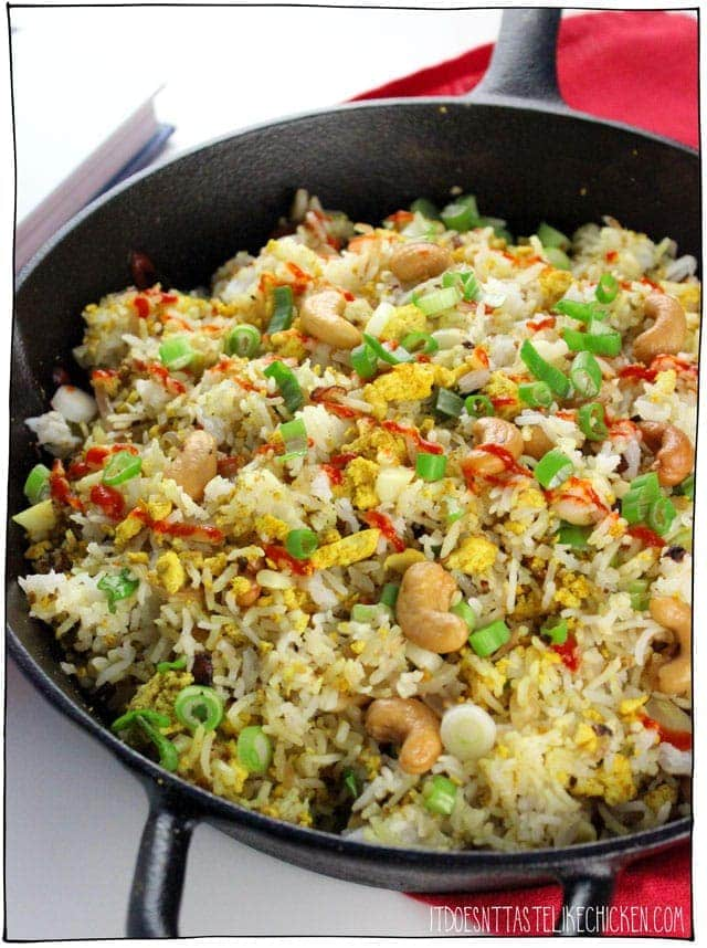 Burnt Garlic Un-Fried Rice by Chloe Coscarelli from her cookbook Chloe Flavor. #itdoesnttastelikechicken #chloeflavor #chloecoscarelli #vegancookbook