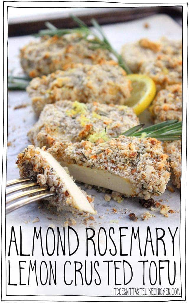 Almond Rosemary Lemon Crusted Tofu