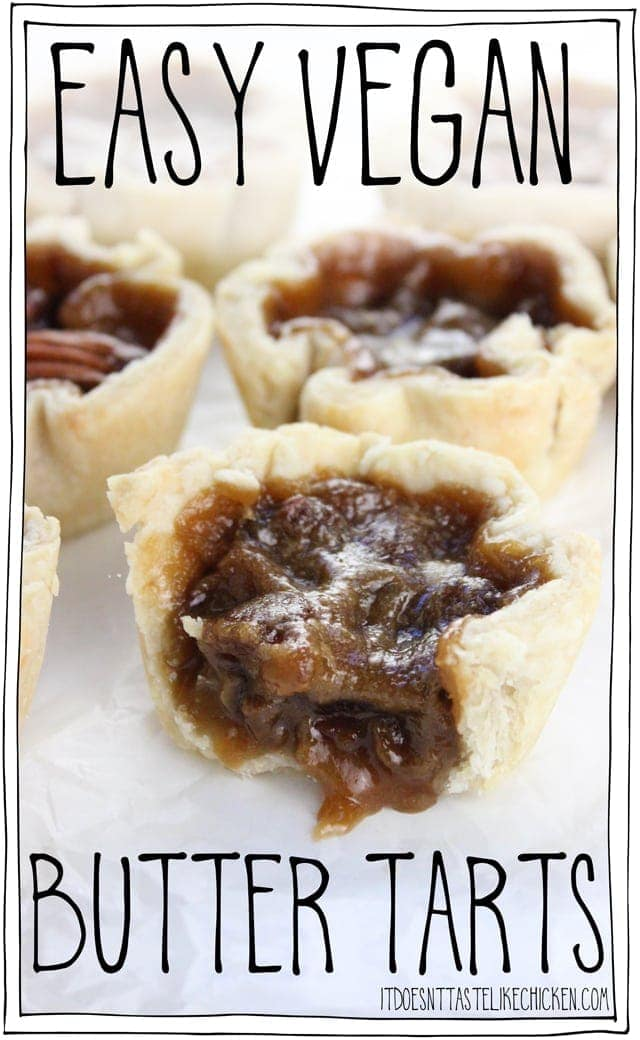 Easy Vegan Butter Tarts