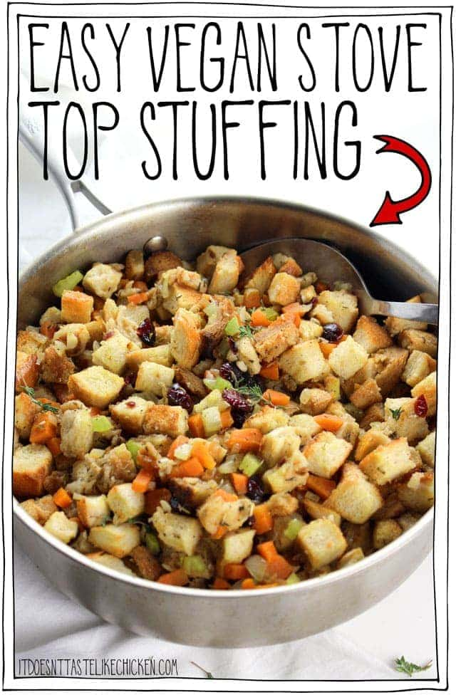 Easy Vegan Stove Top Stuffing