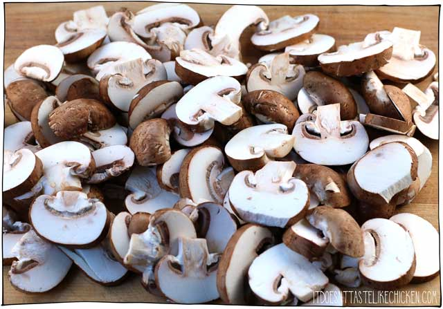How to make vegan mushroom bacon. Quick and easy, just 5 ingredients!