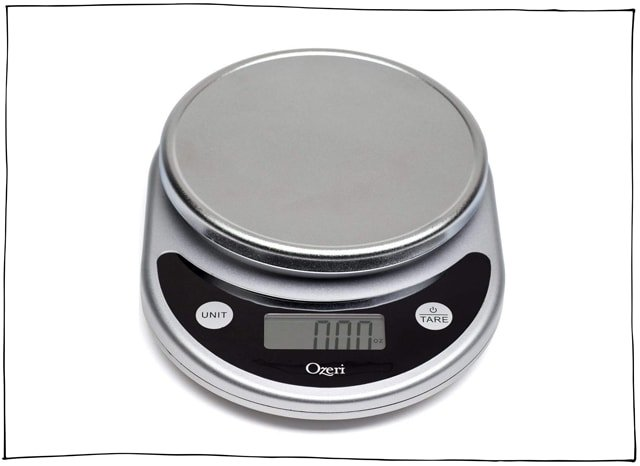A kitchen scale is perfect for accurate measuring.