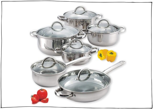 You don't need many but a quality set of pots and pans will get you far.