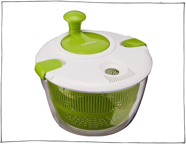 A salad spinner is not only great for washing lettuce but other fruit and veg too.
