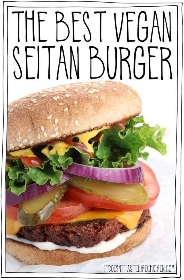 The Best Vegan Seitan Burger for your vegan Father's Day!