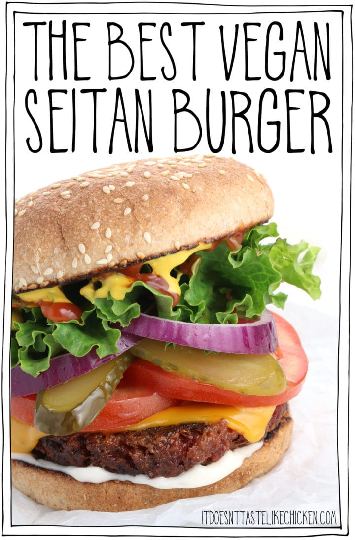 The Best Vegan Seitan Burger