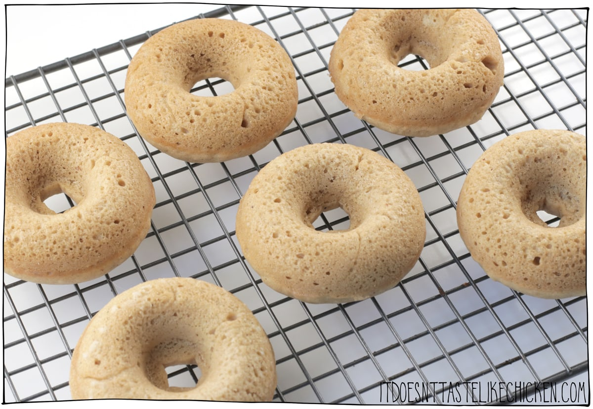 Bake the donuts and let them cool.