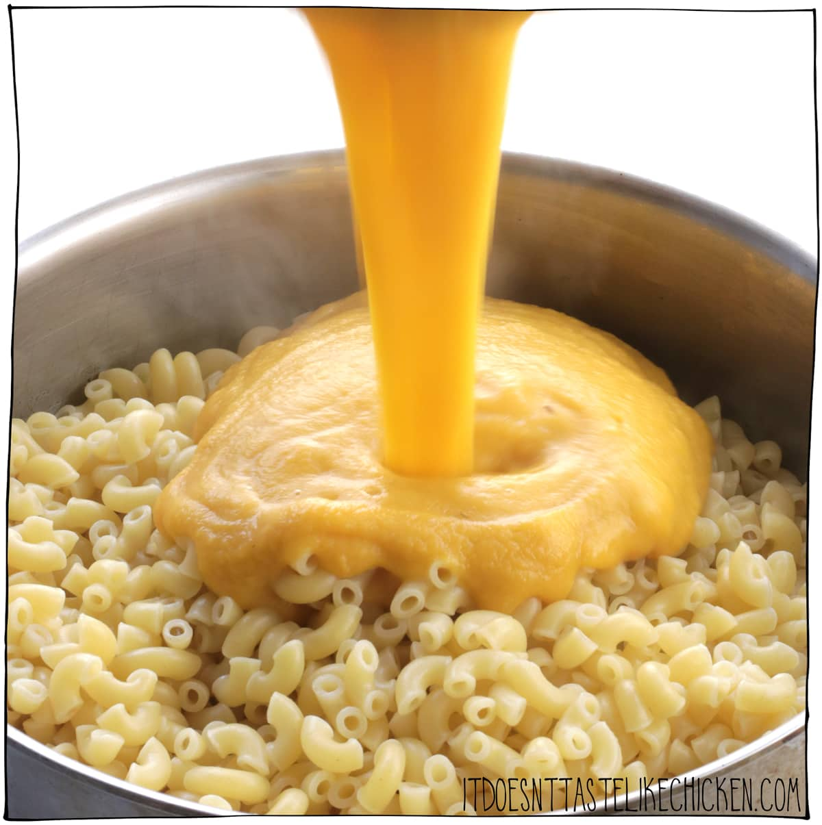 Toss with the cooked macaroni.