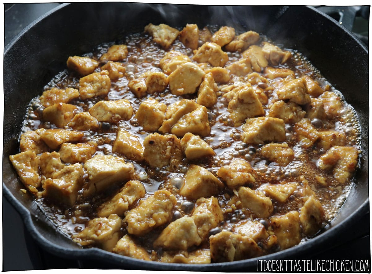Cook until the sauce as thickened. Serve hot