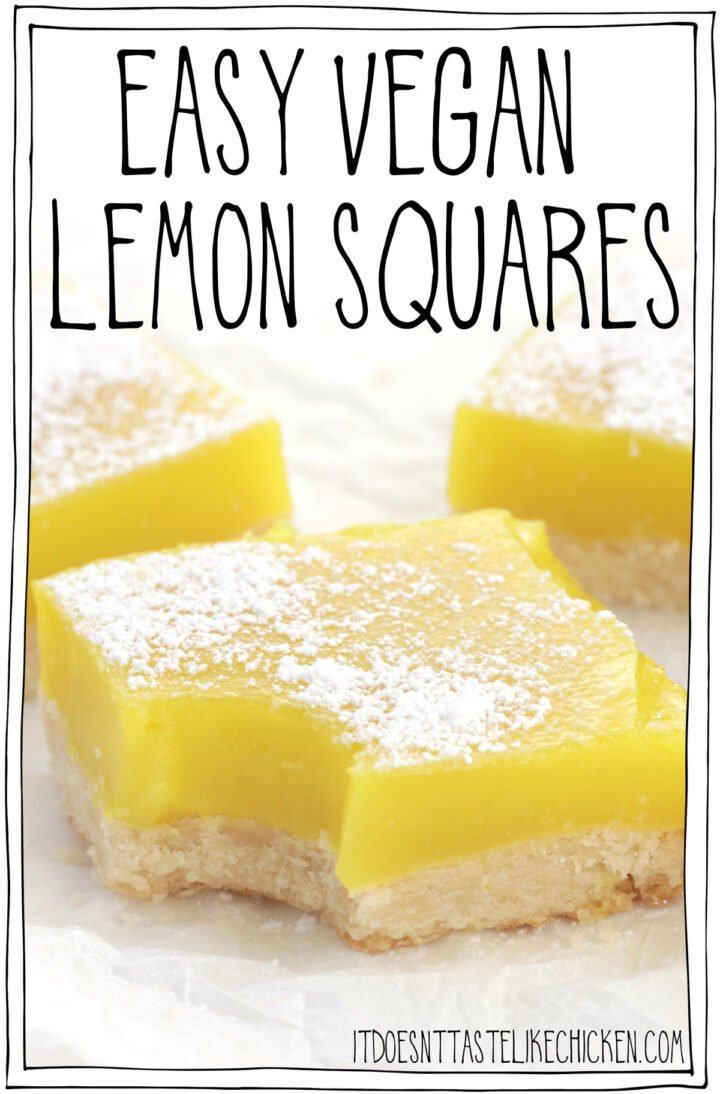 Easy Vegan Lemon Squares