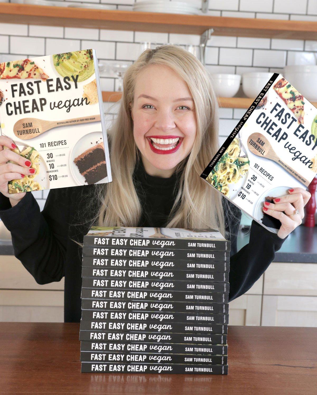 Sam Turnbull, vegan influencer and author of Fast Easy Cheap Vegan
