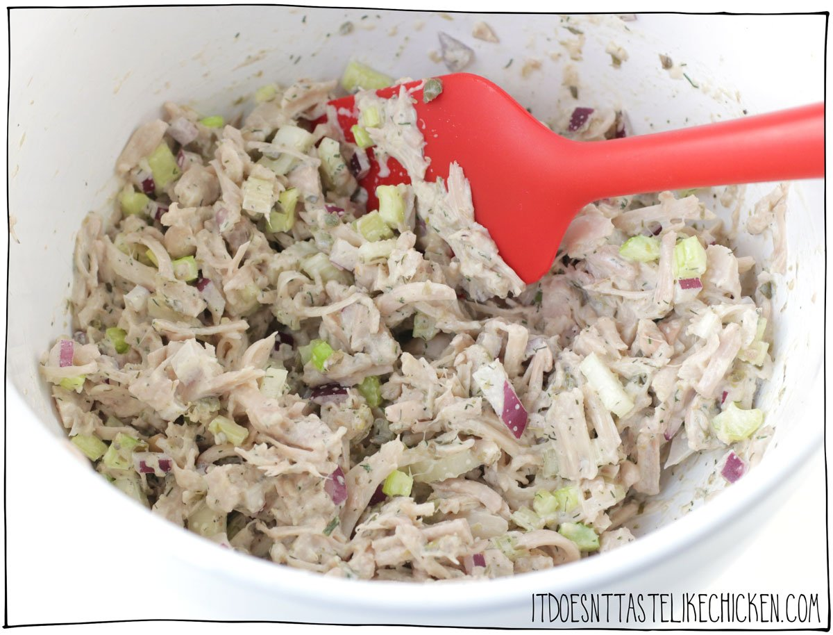 Mix it with vegan mayo and other seasonings. Enjoy!
