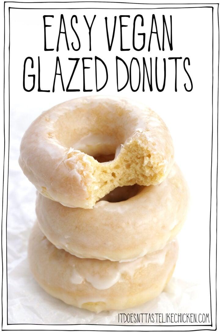 Easy Vegan Glazed Donuts