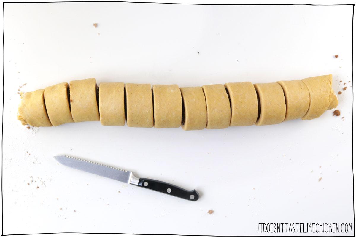 Cut the dough into 12 rolls