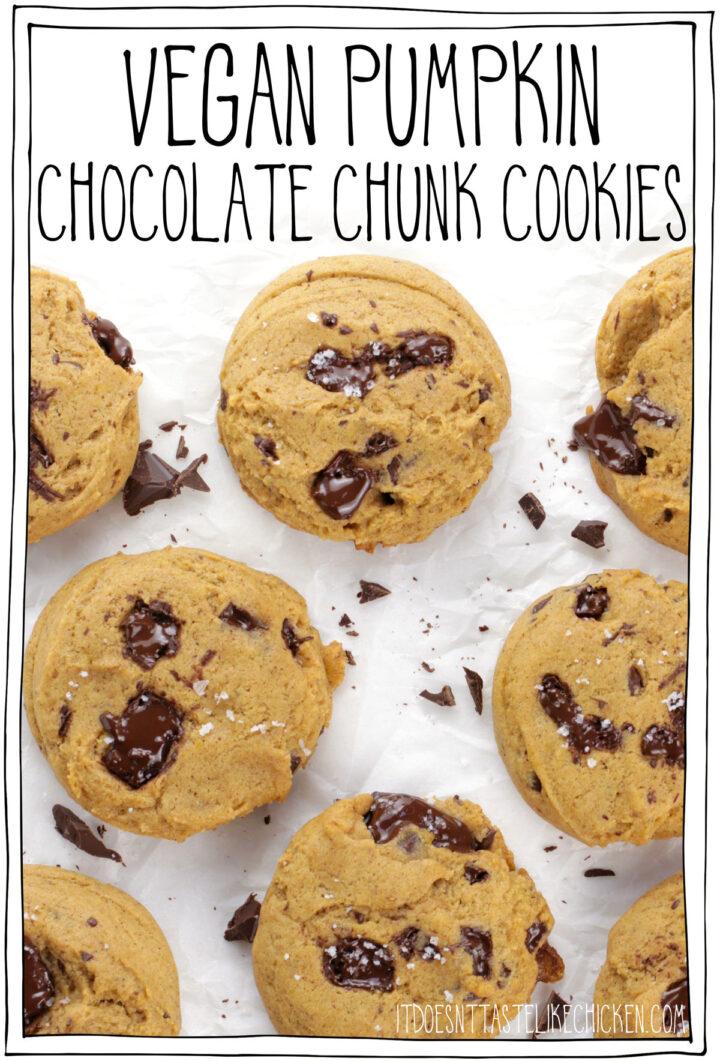 Vegan Pumpkin Chocolate Chunk Cookies